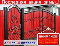 Кованые распашные ворота, код: Р-0165, фото 1