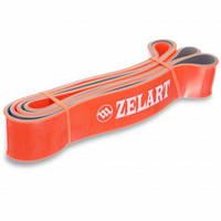 Резина для подтягиваний двухслойная, резина, р-р 2080x45x4,5мм, жесткость L, оранжевый (FI-0911-7)