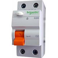 Дифференциальный выключатель ВД63 (УЗО) 2П 16A 10МA Schneider