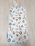 Пеленка-кокон с шапочкой интерлок Cute Animals ТМ Merry Bee, фото 3