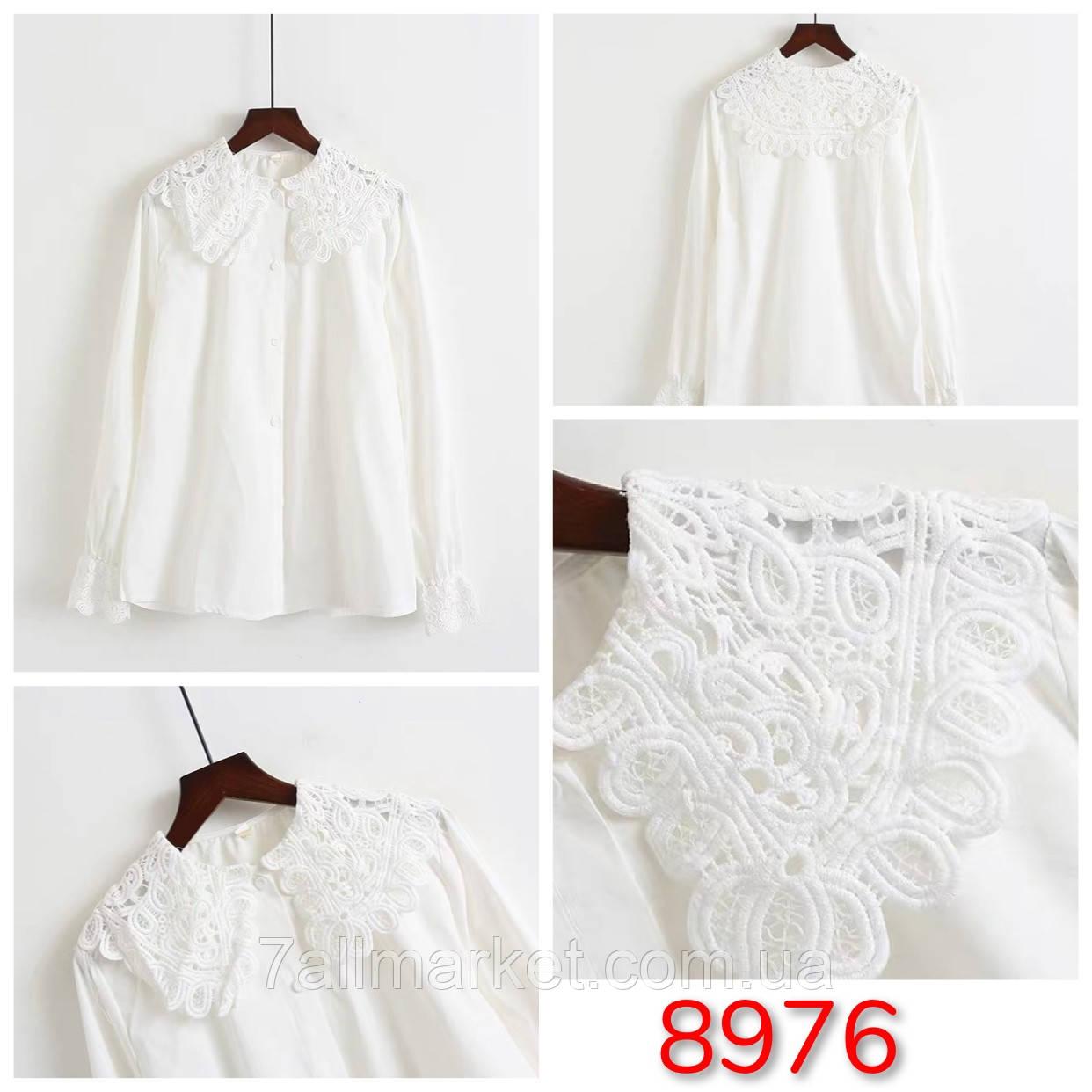 """Блузка жіноча ексклюзив з мереживним коміром розмір 42-46 """"SPRING"""" недорого від прямого постачальника"""