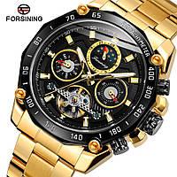 Forsining 6913 Gold-Black Часы мужские наручные механические с автоподзаводом