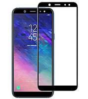 Защитное стекло Lion для Samsung Galaxy A6 / J6 (2018) 3D Perfect Protection Full Glue, Black