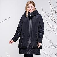 """Демисезонное пальто с капюшоном """"Алана"""" рр 50-60"""