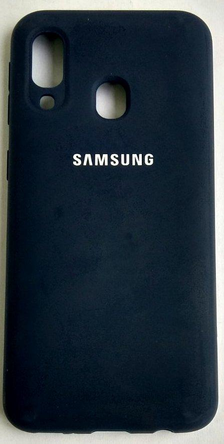 "Силіконовий чохол ""Original Silicone Case"" Samsung A405/A40 Blue"