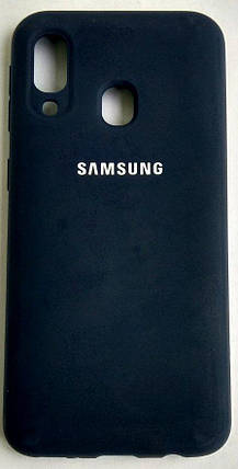 """Силіконовий чохол """"Original Silicone Case"""" Samsung A405/A40 Blue, фото 2"""