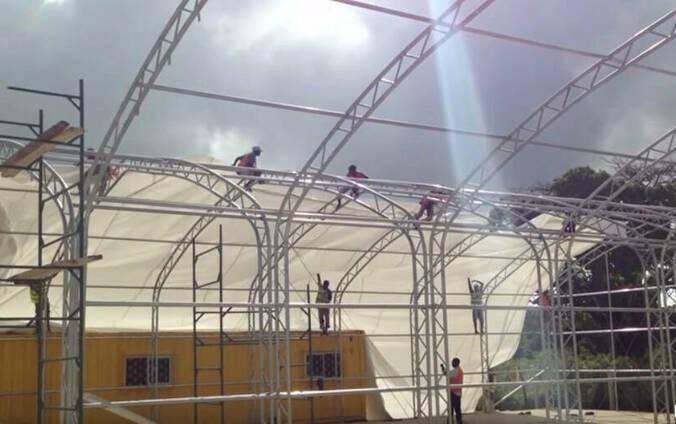 Тентовые конструкции под склад, фото 2