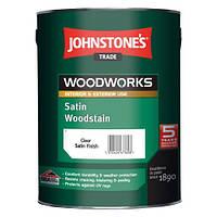 Johnstone's Satin Woodstain 5л Полуматовый Антисептик Джонстоун Сатин Вудшайн