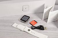 """Умные часы-телефон 1.54"""" смарт часы с камерой Smart Watch Z6S (серые + белый ремешок), фото 8"""