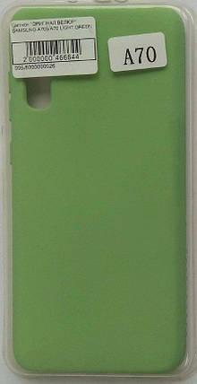 """Силиконовый чехол """"Original Silicone Case"""" Samsung A705 / A70 light green, фото 2"""