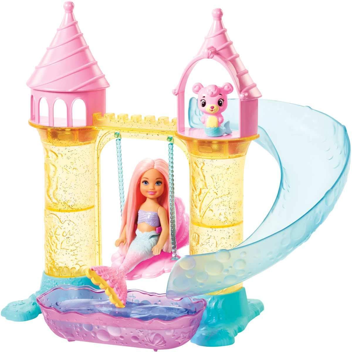Набор Barbie Dreamtopia Замок русалочек Челси FXT20
