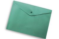 Папка-конверт на кнопке А4 Buromax ВМ.3925 непрозрачная Зеленый