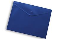 Папка-конверт на кнопке А4 Buromax ВМ.3925 непрозрачная Синий