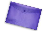 Папка-конверт на кнопке А4 Buromax ВМ.3925 непрозрачная Фиолетовый