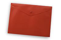 Папка-конверт на кнопке А4 Buromax ВМ.3925 непрозрачная Красный