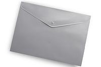 Папка-конверт на кнопке А4 Buromax ВМ.3925 непрозрачная Серый