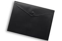 Папка-конверт на кнопке А4 Buromax ВМ.3925 непрозрачная Черный