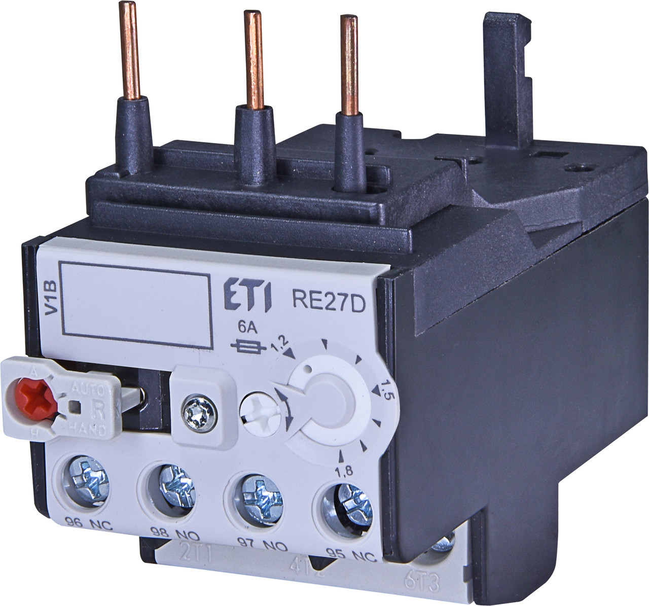 Тепловое реле ETI RE 27D-1,8 (1,2-1,8A) CEM9-CEM25 4642404 (для контакторов CEM9, CEM12, CEM18, CEM25)