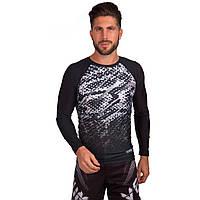 Комплект компрессионный мужской (Лонгслив и шорты) Venum TROPICAL (PL, M-XL, черный-серый) PZ-CO-5818-CO-5819