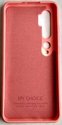"""Силиконовый чехол """"Оригинал Велюр"""" Xiaomi Mi Note 10 / Mi CC9 Pro Rose, фото 2"""