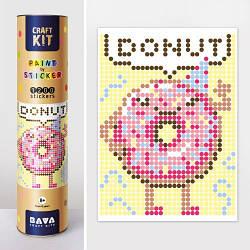 """Картина по номерам с наклейками """"Пончик"""""""