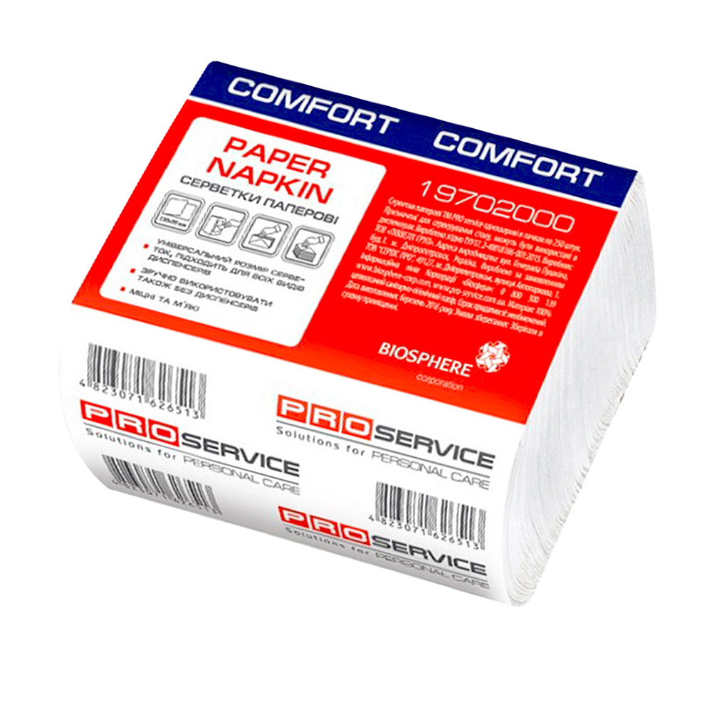 Диспенсерные салфетки 250 листов Pro Service Comfort  3сложеня 24*21см для настольных диспенсеров  (24 уп/ящ)