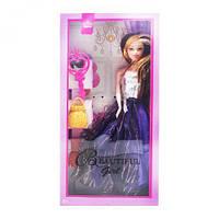 Кукла - аналог Барби с аксессуарами  (фиолетовиый)