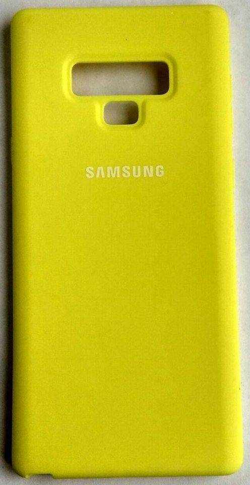 """Силиконовый чехол """"Original Silicone Case"""" Samsung N960 / Note 9 yellow"""