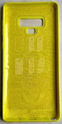 "Силиконовый чехол ""Original Silicone Case"" Samsung N960 / Note 9 yellow, фото 2"