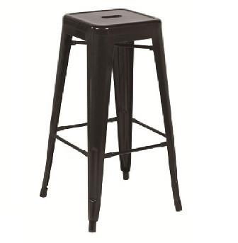 Стілець барний Толікс, високий, чорний метал