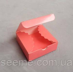 Коробка 80x80x30 мм, цвет коралловый