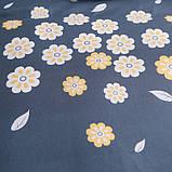 Комплект постельного белья цветы полуторное, фото 5
