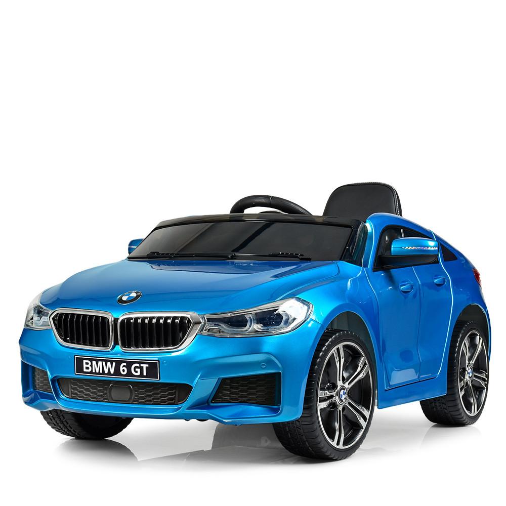 Детский электромобиль BMW JJ2164EBLRS-4 синий автопокраска