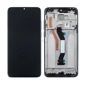 Дисплей (экран) для Xiaomi Redmi Note 8 Pro с сенсором (тачскрином) и рамкой черный