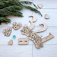 Деревянные дизайнерские номерки на стол, фото 1