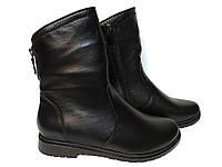Женские ботинки весна-осень кожаные на низком каблуке. Код 505