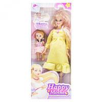 "Кукла беременная ""Happy Mother"" с ребёнком (желтый) аналог Барби"