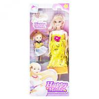 """Кукла беременная """"Happy Mother"""" с ребёнком (золотистый) аналог Барби"""