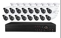 Супер комплект видеонаблюдения на 16 камер AHD KIT 1080Р Full HD