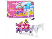 """Конструктор для девочек """"Страна чудес: Карета с лошадью"""", 117 деталей"""