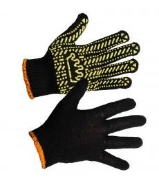 Перчатки 5611 корона ПВХ черные (10шт) VT