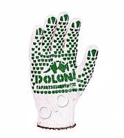 Перчатки 520 бел зел точка ПВХ 2 сорт (10шт)