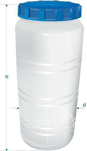 Бак вертикальний харчової 300л синій (ПластБак)