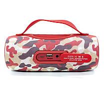 Блютуз колонка ZEALOT S29 Red Camouflage FM радио 10 Вт павер банк фонарь батарея 2000 мАч, фото 2
