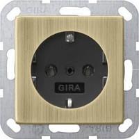 Розетка с заземлением GIRA System 55 бронза чёрный