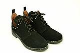 Туфлі для дівчаток шнурівка замшеві чорні 332057, фото 2