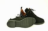 Туфлі для дівчаток шнурівка замшеві чорні 332057, фото 4