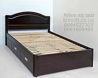 """Кровать детская подростковая деревянная с ящиками """"Анжела"""" kr.ag4.1, фото 1"""