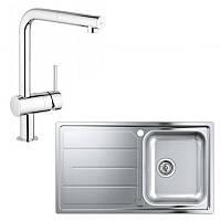 Набор кухонная мойка Grohe EX Sink 31573SD0 K500 и смеситель Minta 32168000, фото 1