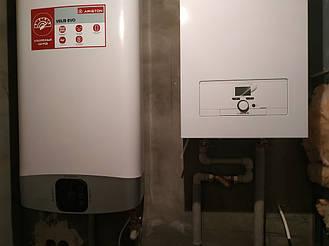 Монтаж системы отопления. Монтаж электро котла с бойлером. Монтаж водяных теплых полов. 3